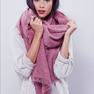Free People Koda Brushed Scarf Pink Winter Soft
